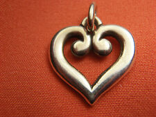 James Avery Retired Scrolled Heart Pendant or Charm Sterling Silver Lot 3102