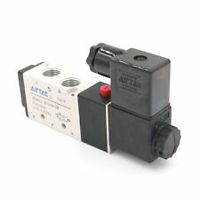 "Pneumatic Solenoid Valve PT 1/4"" Air Valve 4V210-08 DC 12V 5 Way 2 Position"