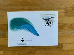 CHILE 1984 FDC WWF CONSERVATION BLUE WHALE