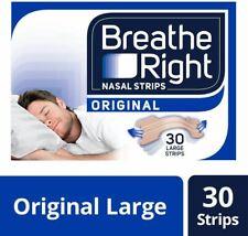 Breathe Right Tiras Nasales para el Alivio de la Congestión - Grandes - 30 Tiras