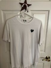 PLAY Comme des Garcons White/Black Heart Short Sleeve Tee T Shirt XL Mens
