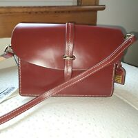 Dooney & Bourke Selleria Flap Crossbody Oxblood Smooth Leather NWT & Dustbag