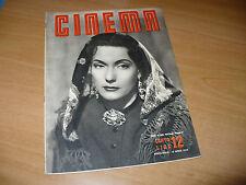 RIVISTA CINEMA NUOVA SERIE N.12 APRILE 1949 ISA MIRANDA ANNA MAGNANI K. HEPBURN