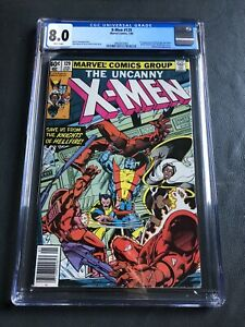 X-Men #129 / 1st Appearance Kitty Pryde, Emma Frost  / CGC 8.0 White / Newss