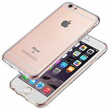 Case For iPhone 5,8,7,6s, Shockproof 360° Silicone FULL BODY Clear Cover