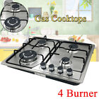 """4 Burners Gas Stove 23"""" Built-In Gas Cooktop Stainless Steel Propane Natural Gas photo"""