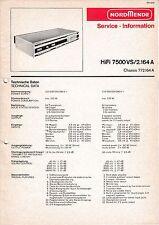 Service Manual-Anleitung für Nordmende HiFi 7500 VS 2.164 A