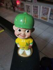 1960's Gold Base Oakland A's Bobble Head Doll