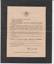 FAIRE-PART DÉCÈS 1913 Louis d'HÉLIE de SAINT-ANDRÉ - LIMOUX - CASTELRENG - AUDE