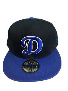 NEW Dodgers D Hat Fitted Black/Blue Size 7 5/8 New Era
