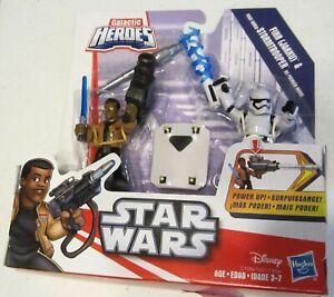 Playskool Star Wars Galactic Heroes Deluxe Finn & First Order StormTrooper New!