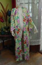 Josie Natori Long Robe Wrap Kimono Medium