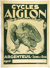 Cycles Aiglon - Original Vintage Bicycle Poster - Cycling - Eagle