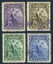 Paraguay 399-402,used.Mi 544-547. Discovery of America,450th Ann.1943.Columbus.