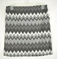 Womens Stretch Pencil Skirt WORTHINGTON Black Gray Aztec Pattern Sizes M-L-XL