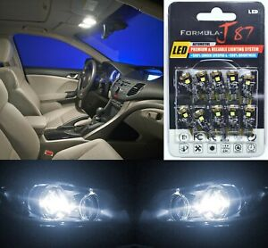 Canbus Error LED Light 194 White 5000K Ten Bulbs Step Door Replace Stock Upgrade