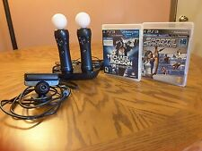 Sony PlayStation 3 PS3 Move Motion Bundle; Charging Dock & Camera Eye w/Games
