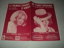 FRANCE GALL PARTITION MUSICALE FRANCE BELGIQUE ON T'AVAIT PREVENUE + 1