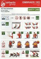 SAFETY CARD: Air Berlin GroupEmbraer 190op by LGW Issue 1
