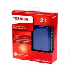 "Toshiba Canvio Advance 2TB 2.5"" Portable External Hard Drive 2 TB USB 3.0 Blue"