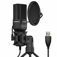 KUNGBER USB PC Microphone, Gaming Recording Mic, MAC/Windows, Streaming,Xbox,PS4