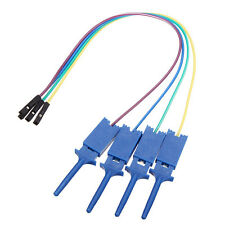 40Pcs Test Clamp Wire Hook Test Clip for Logic Analyzer