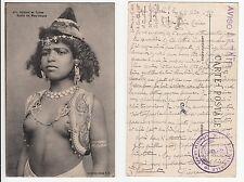 Marokko,Mädchen Orient Bedouine Arab girl Ethnic Type Jean Mauresque Nude 1916