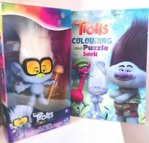 U GET BOTH DreamWorks Trolls World Tour Tiny Diamond Doll Medium & Coloring book