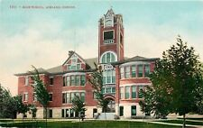 Ashland Oregon~Big Bold Tower~Rounded Rooms~High School~New Trees~c1910 Postcard