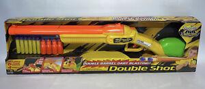 Buzz Bee Toys Double Barrel Dart Blasting Gun 6 Darts 4 Shells Air Blasters 2009