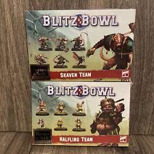 Blitz Bowl Skaven & Halfling Teams B&N Exclusive Citadel Miniatures Bloodbowl