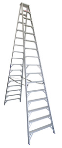 INDALEX Pro Series Aluminium Double Sided Step Ladder 16ft 4.9m