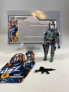Cobra Commander w/rem Helmet V22 Comic Pack GI Joe Loose Complete w/Filecard
