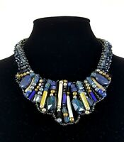 NAKAMOL Design Multi-Strand Crystal Fauceted Beaded Statement Necklace