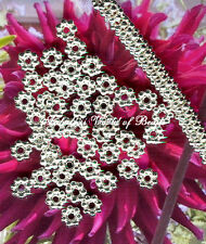 Bali Style Daisy Flower Spacer Beads Sterling Silver Plated 4 MM (100)