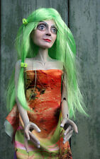 Marionette carved/ marionette on string wood hand-made-Flower Fairy- puppet