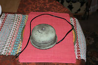 Vintage Bell School Fire Boxing Bell Rings Loud Working Metal Bell