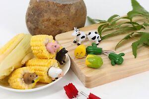Corn Holder Adorable Happy Farm Corn Holders 4 Pairs Set AU