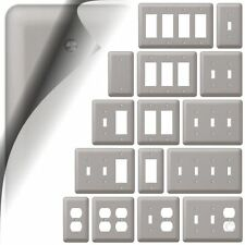 Devon Switch Plate Brushed Nickel Wallplate Outlet Cover Toggle Duplex Rocker