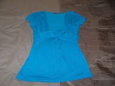 Nearly new bright blue cap sleeve top