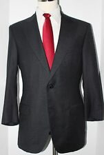 Oxxford Clothes Gray Super 150s Wool Side Vented Two Button Suit 40 R 36 30 40R