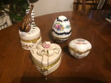4 Trinket Boxes, 1 Musical, 1 Lenox, 1 France