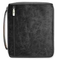 Gregg Gifts Premier Distressed Black Bible Cover, Xl