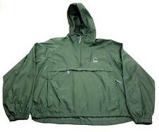 Sierra Designs 1/4 Zip Green Nylon Raincoat Jacket Pockets Large