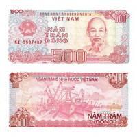 Pick 101a Vietnam 500 Dong 1988  Unc. / 285019vvv