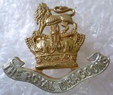 Badge VICTORIAN Royal Dragoons Regiment Cap Badge QVC (Bi-Metal, Genuine*)