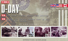 Antigua & Barbuda 2004 MNH D-Day 60 Operation Overlord 4v M/S Tanks WWII Stamps