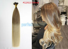 16inch 1G Nano Rings Beads Double Drawn Remy Human Hair Extensions 50s #T12/613