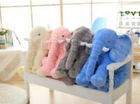 Mignon Elephant en Peluche de 40cm-60cm Grande Poupee Doudou Enfant en Coton