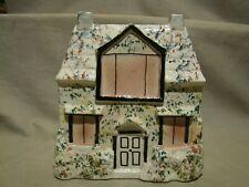 "Antique Staffordshire Hand Painted Cottage 8 1/4"" h x 7 3/4"" x 2 3/4"" c. 1850"